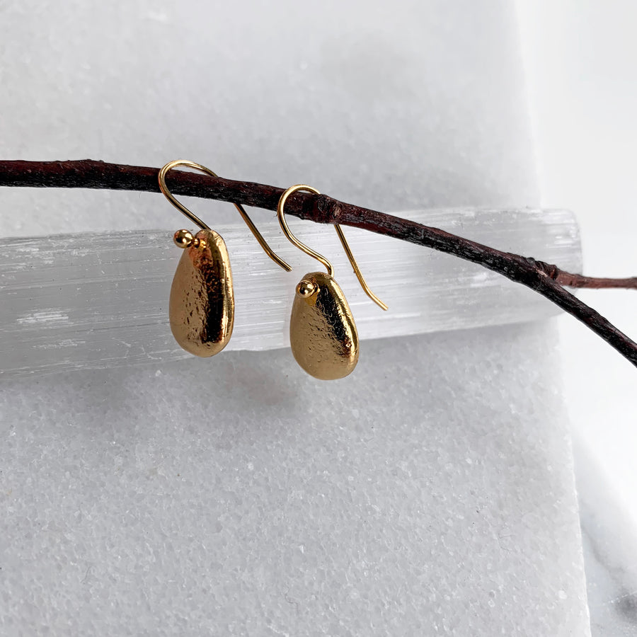 Beach Pebble Dangle Earrings