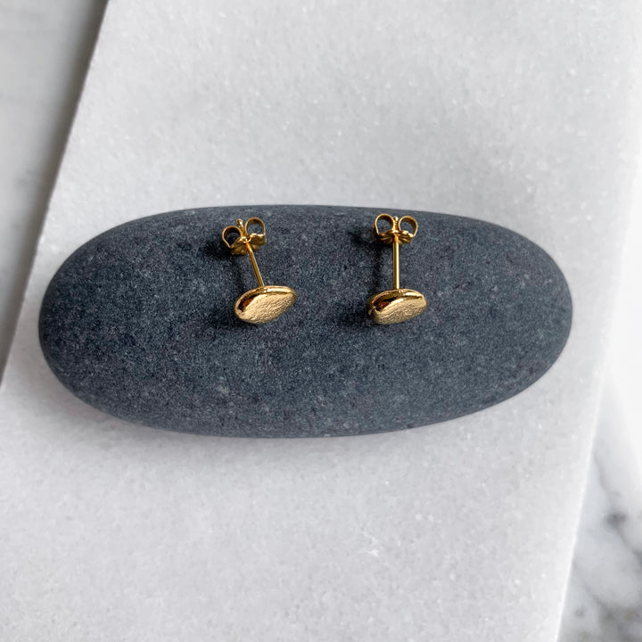 Beach Pebble Post Earrings