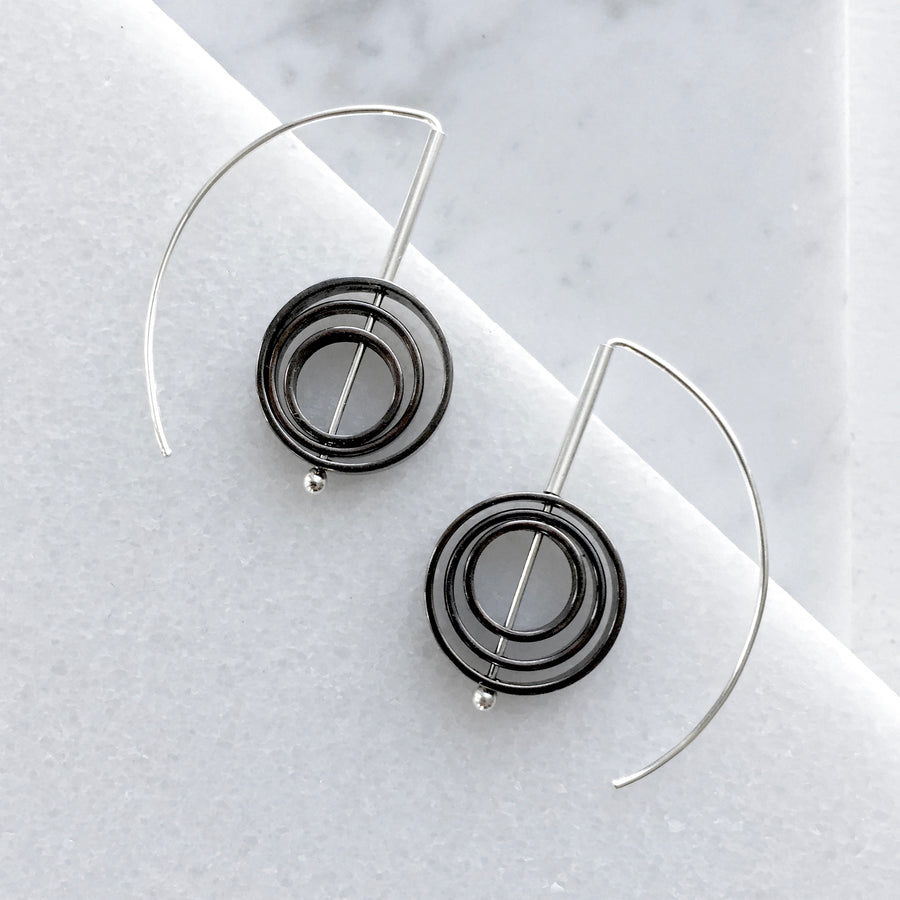 Concentric Circle Staple Earrings
