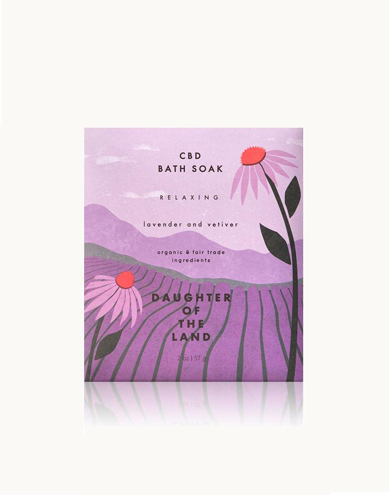 CBD Lavender and Vetiver Bath Soak [Single Serving]