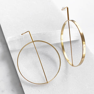 Diameter Hoop Earrings