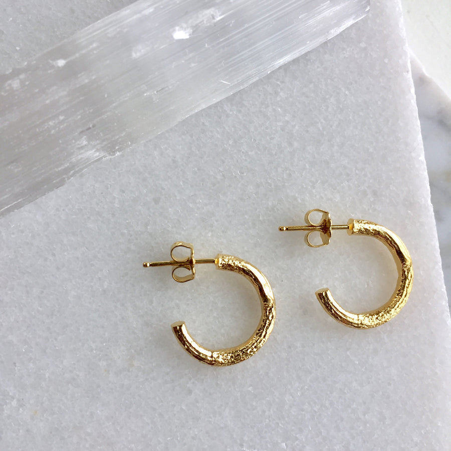 Winter Twig Hoop Earrings