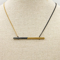 Half and Half Bar Necklace