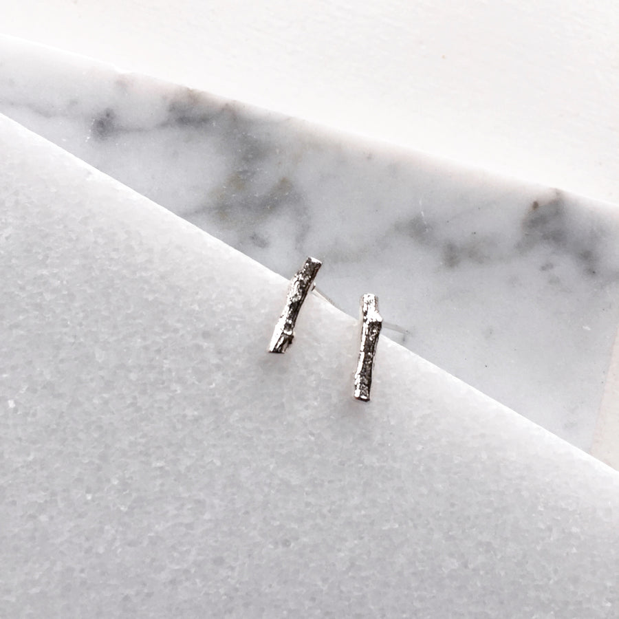Mini Twig Post Earrings