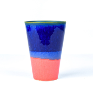 Tall Tumbler in Cobalt/Coral bt031