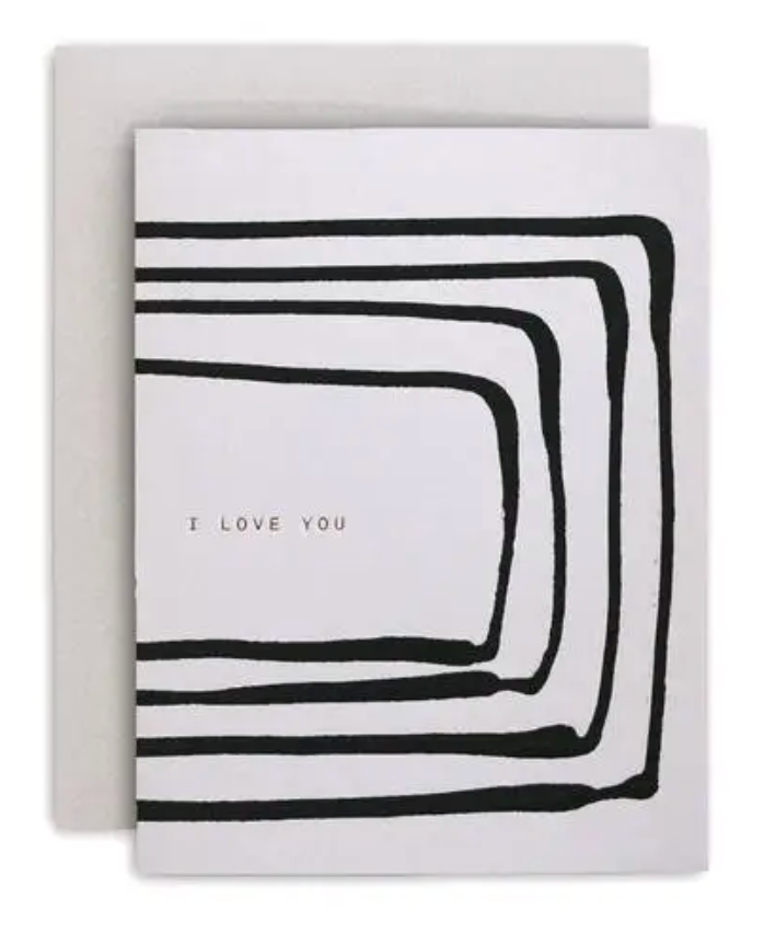 Love You Stripe Greeting Card