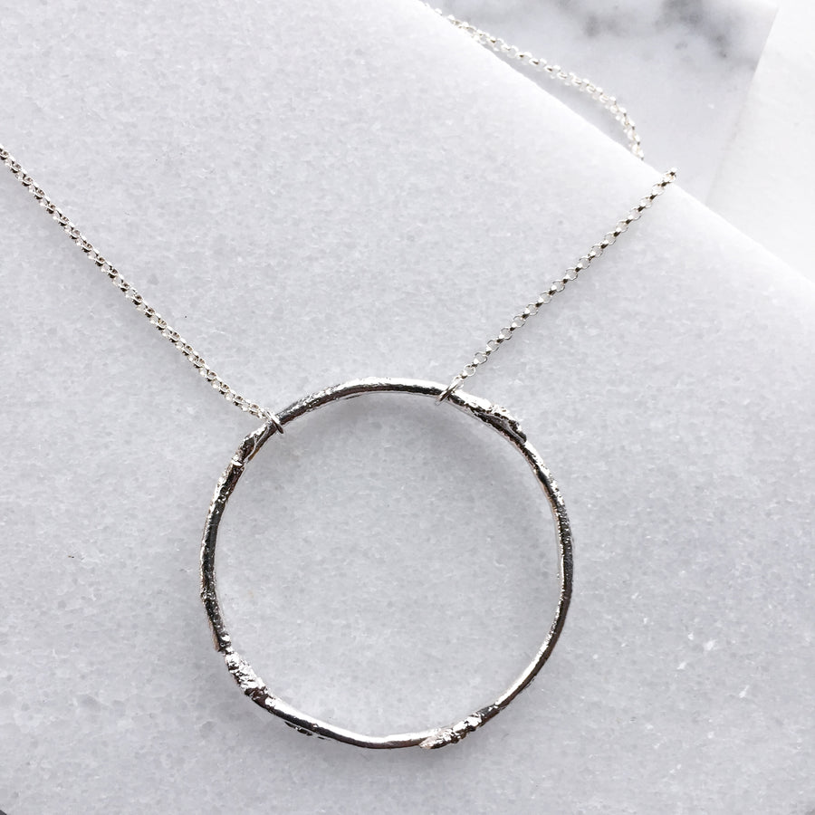 Twig Ring Necklace