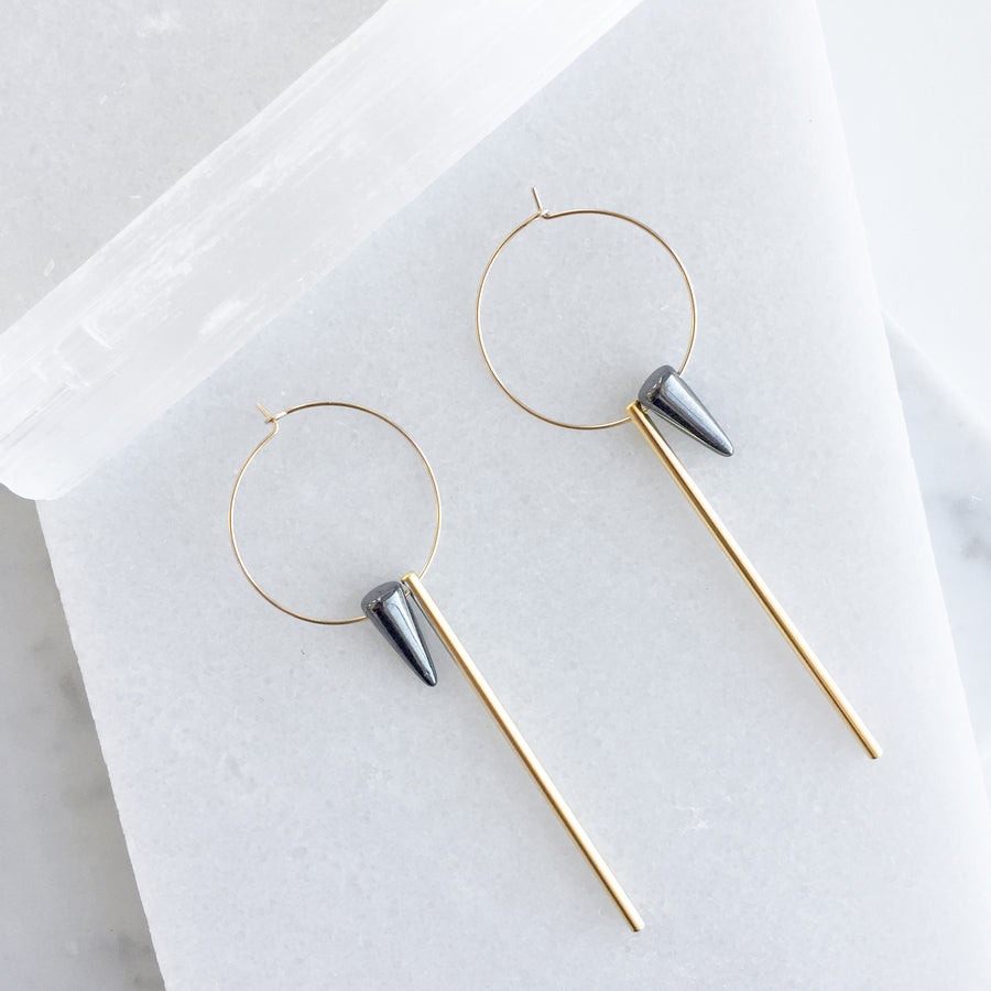 Spike and Stick Hoop Earrings