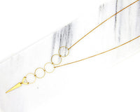 Bubble Faux Lariat Necklace