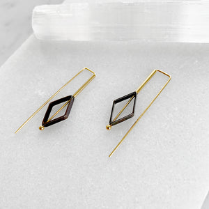 Diamond Staple Earrings