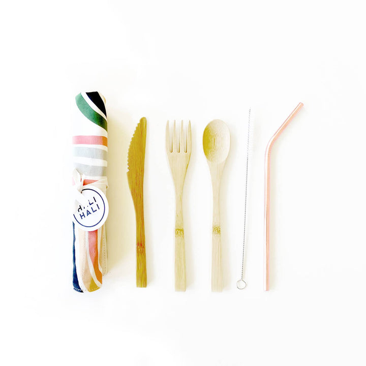 6 pc Eco Friendly Reusable Cutlery Set