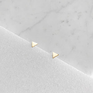Solid Triangle Post Earrings