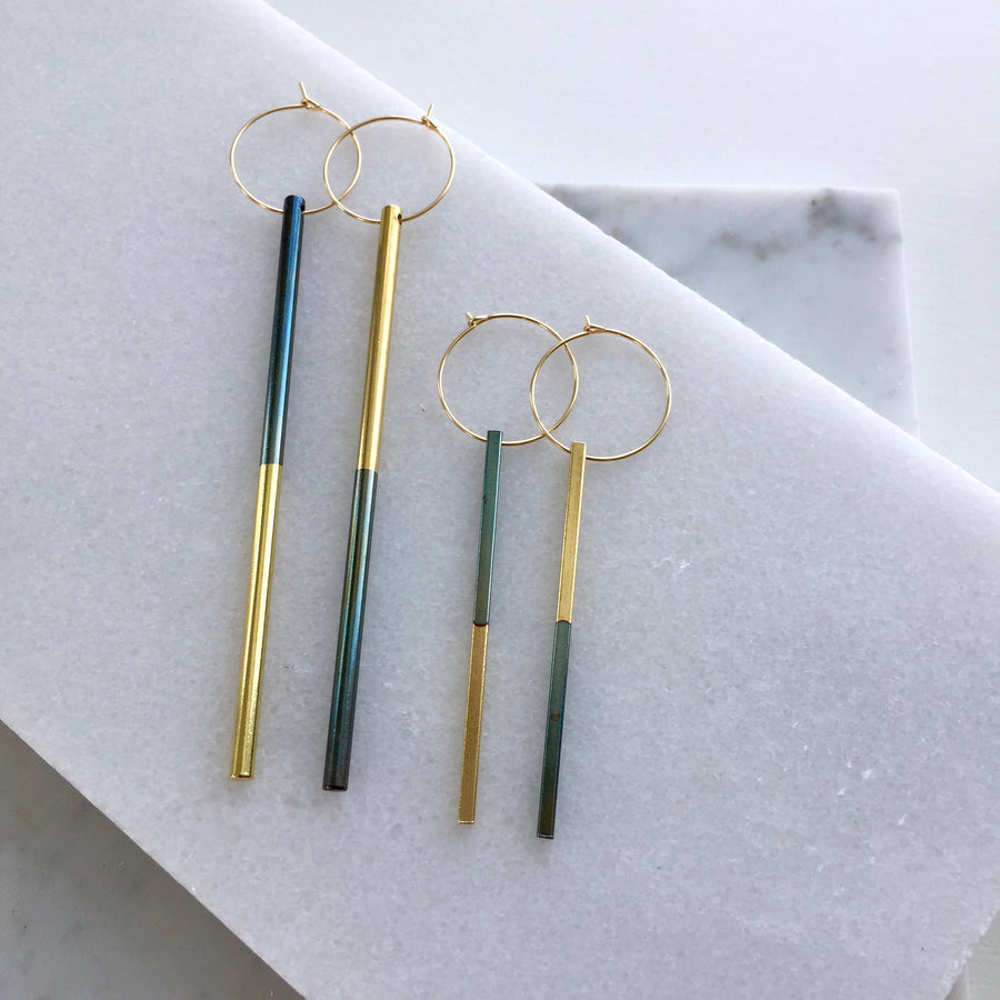Flip Stick Hoop Earrings