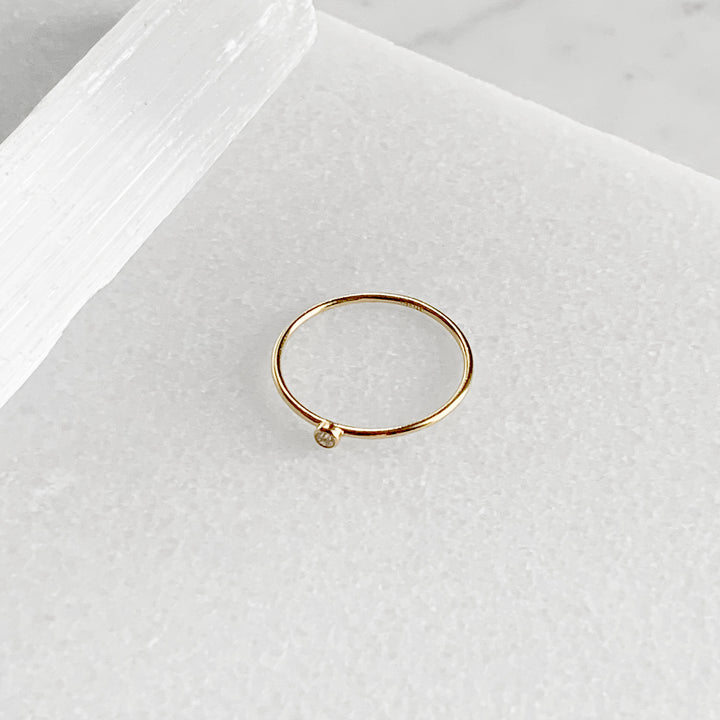 Skinny Stone Stacking Ring
