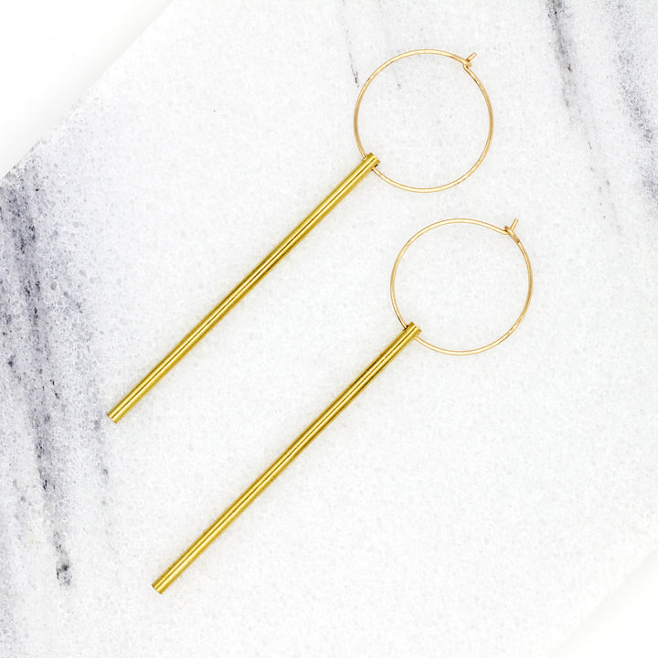 Stick Hoop Earrings