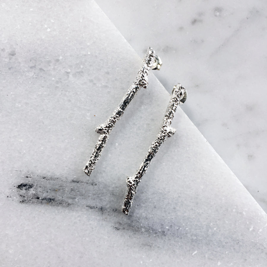 Winter Twig Post Earrings