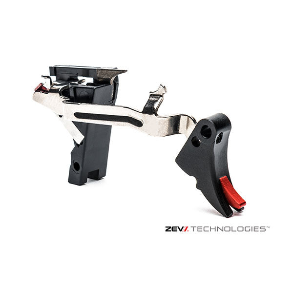 ZEV Tech Adjustable Fulcrum Trigger Drop-In Kit - Black/Red - Gen 1-3 - 9MM