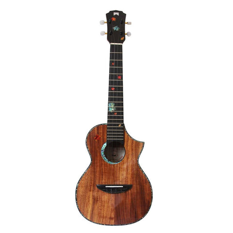 Mr Mai MT60 All Solid Koa Tenor Cutaway Ukulele inc Free Hardcase - Freebirdmusic