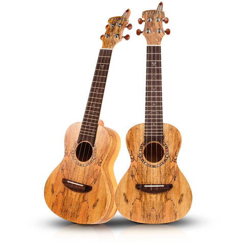 Janny JC-102 Spalted Maple Concert Ukulele Inc Gig Bag - Freebirdmusic