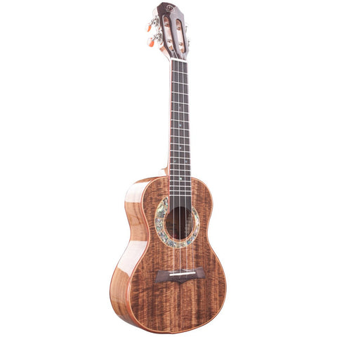 Snail S60C All Solid Flamed Acacia Concert Ukulele - Freebirdmusic