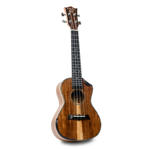 Snail SR-04CE All Solid Acacia Bevelled Edge Concert Ukulele - Freebirdmusic