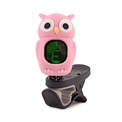 Swiff B7 Chromatic Tuner Cartoon Owl Pink - Freebirdmusic
