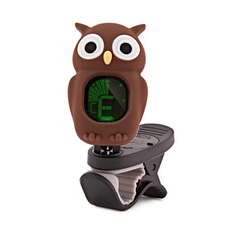 Swiff B7 Chromatic Tuner Cartoon Owl Brown - Freebirdmusic