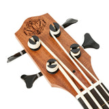 ISUZI EUB-K1 Solid Top Koa Electric Ukulele Bass (Active)