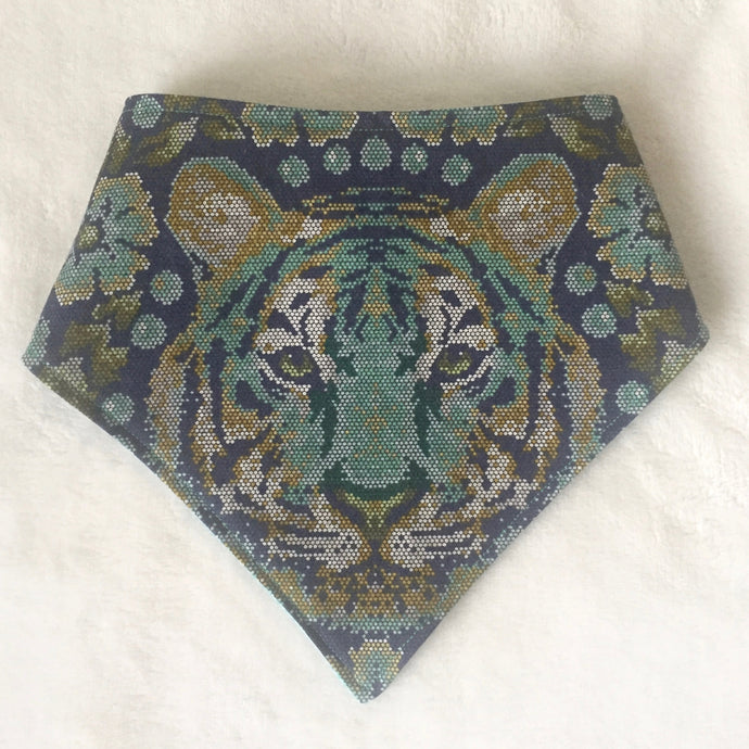 Blue Tiger Bandana Bib