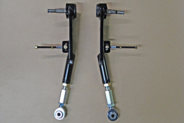 67-73 Mustang/Cougar and 70-77 Maverick/Comet Heavy Duty Adjustable Lower Control Arms (one pair), LCA-1002