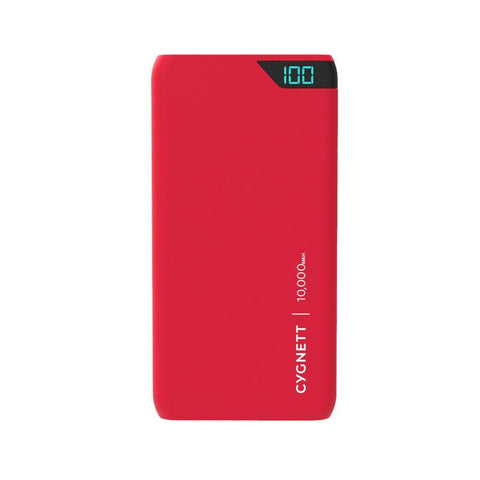 10,000 mAh Portable Power Bank - Red - Cygnett (AU)