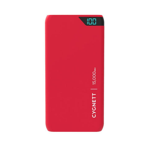 15,000 mAh Power Bank - Red - Cygnett (AU)