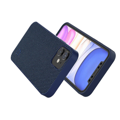 iPhone 12 Mini Slim Fabric Case  - Navy - Cygnett (AU)