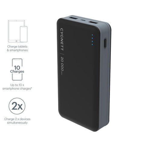 20,000mAh Portable Power Bank - Cygnett (AU)