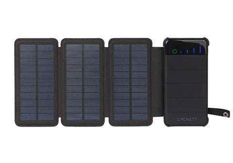 8,000 mAh Power Bank with Solar Panels