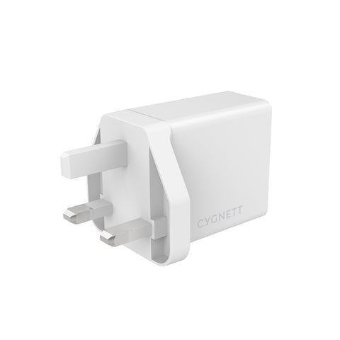 12W Wall Charger + Lightning to USB-A Cable - EU White