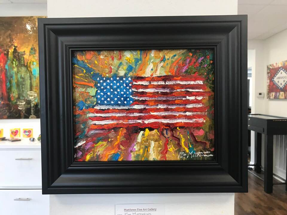 Original American Flag Painting
