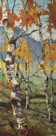 Archival Print on Canvas of Aspen Trees 005