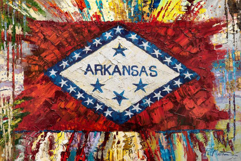 """The Glory of Arkansas""  24"" x 36"" #017"