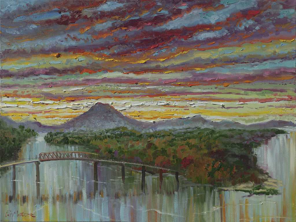 Archival Print on Canvas of Pinnacle Mountain 035-17