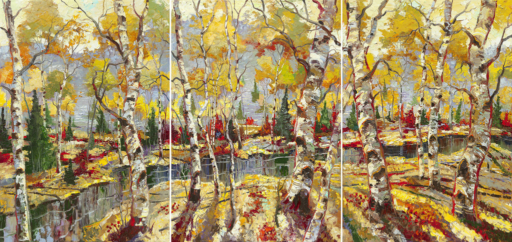 Archival Print on Canvas of Aspen Trees 036