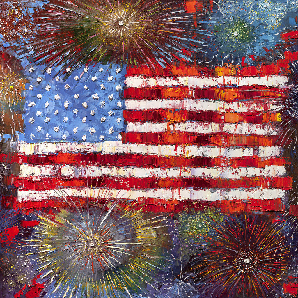 """Celebrate Freedom""   36"" x 36"" Limited Edition Print on Canvas #052"