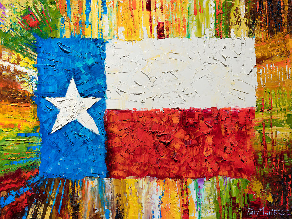 """Lone Star Pride"" Archival print on 20"" x 24"" paper  series limited to 100 Signed and Numbered. #067.  FREE SHIPPING"