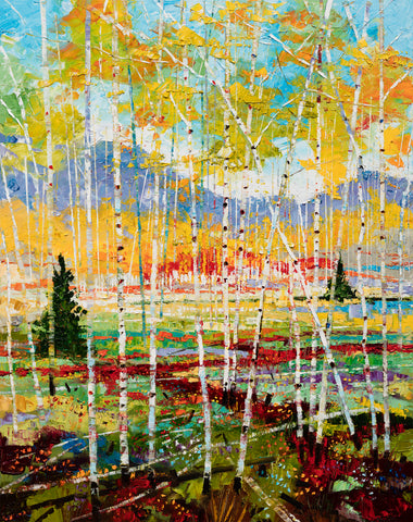 """Through The Grove"" 48"" x 36"" Giclee on Canvas"