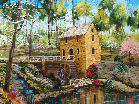 "The Old Mill in Spring 36"" x 48"" #086"