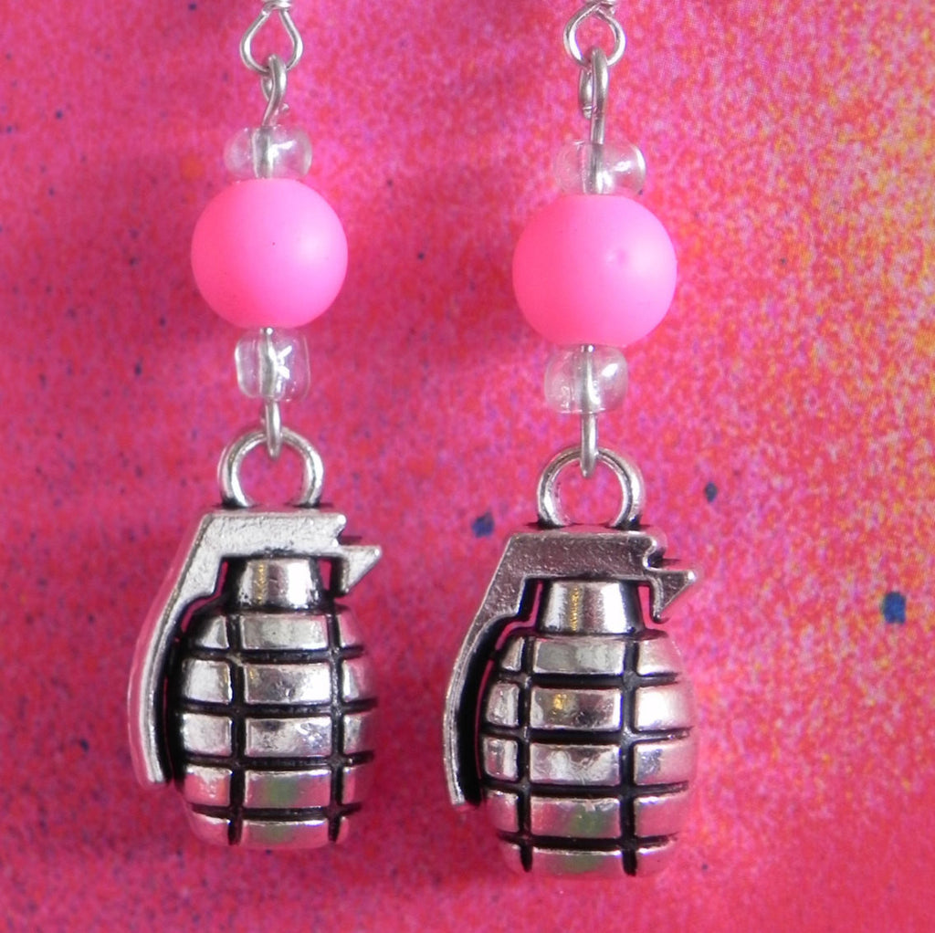 polkadots metallic earrings print products cheetah neon with black leather colleen img white pink