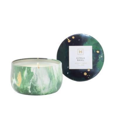 Soy Candle Tin - Citrus Basil - HAVANA HOME