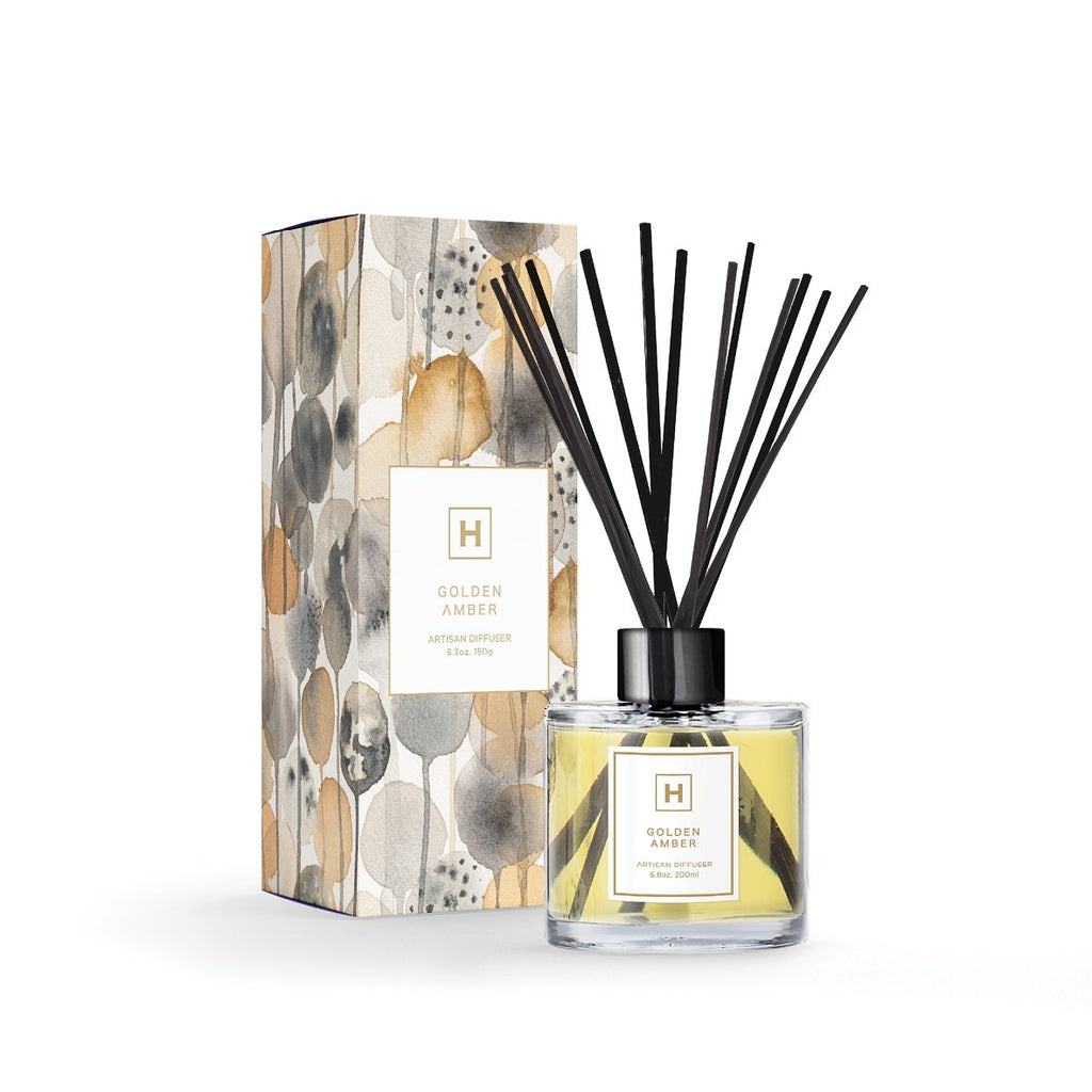 Reed Diffuser Golden Amber - HAVANA HOME