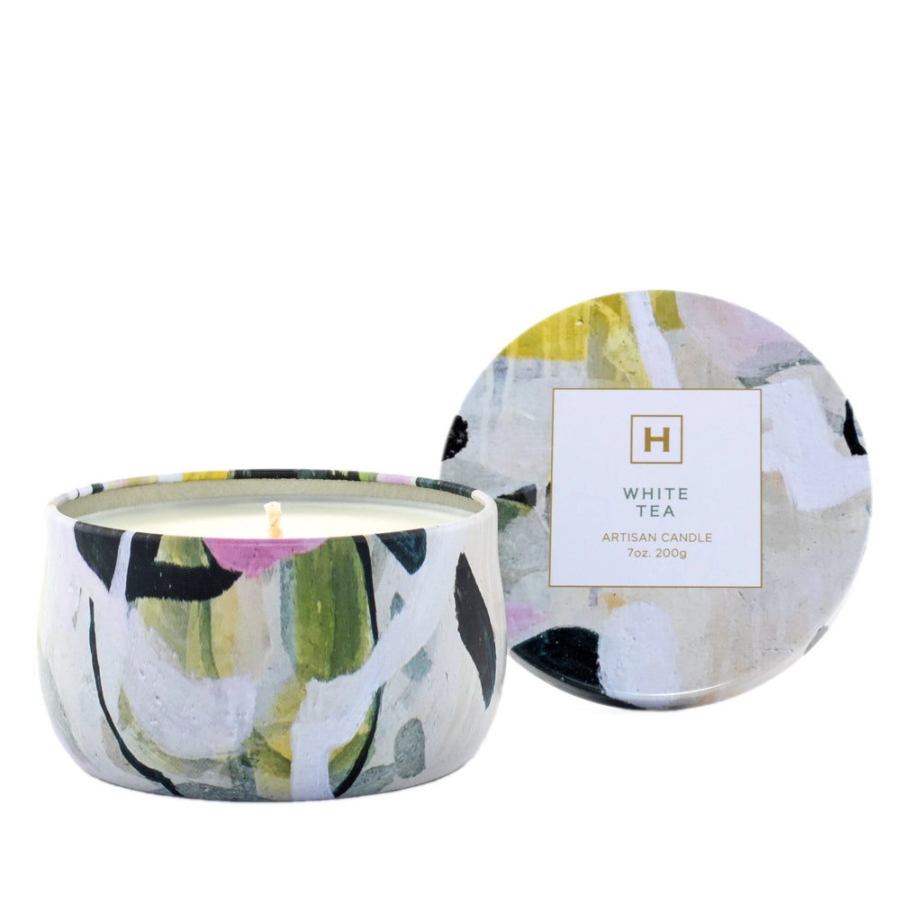 Soy Candle Tin - White Tea - HAVANA HOME