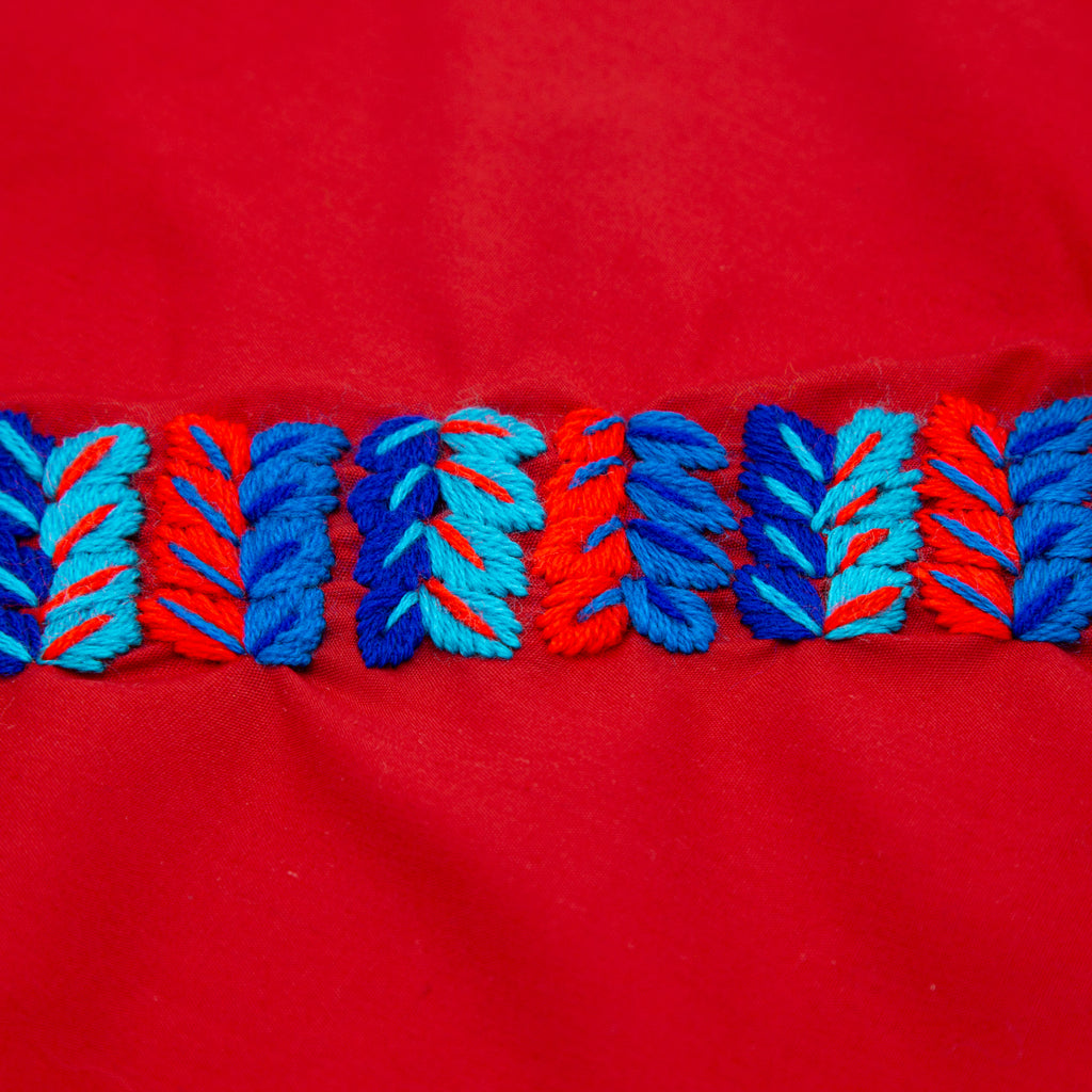 Paliacates para Perros - Paliacates Bordados - Color Rojo - Bordado a Mano